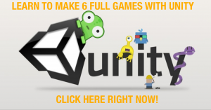 learn to make 6 full games with unity